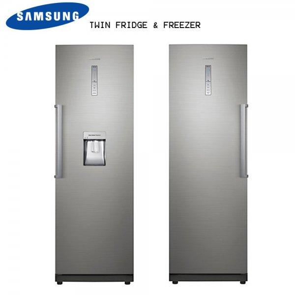یخچال دوقلو سامسونگ سفید و نقره ای